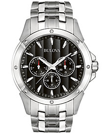 Bulova Men's Stainless Steel Bracelet Watch 43mm 96C107