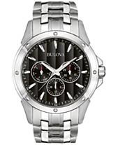 98386a96daa Bulova Men s Stainless Steel Bracelet Watch 43mm 96C107