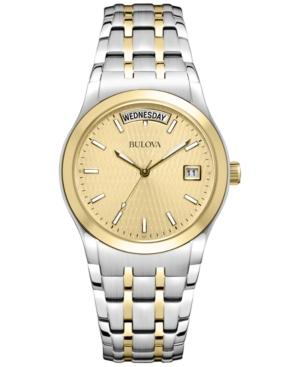 Bulova Men's Two Tone Stainless Steel Bracelet Watch 37mm 98C60