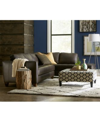milano leather living room furniture sets & pieces - furniture