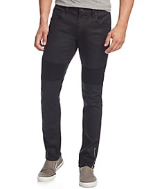 INC Men's Skinny-Fit Moto Jeans with Zipper Details, Created for Macy's
