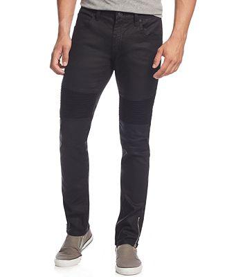 INC International Concepts Men's Moto Matrix Skinny Jeans, Only at ...