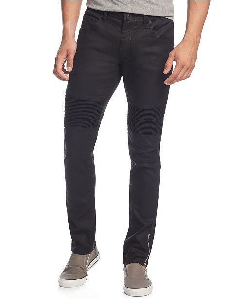 INC International Concepts INC Men's Skinny-Fit Moto Jeans with Zipper Details, Created for Macy's