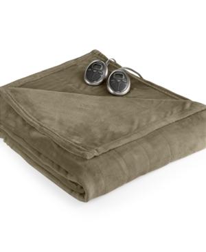 Slumber Rest Velvet Plush Heated Twin Blanket by Sunbeam Bed
