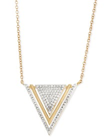 wrapped™ Diamond Triangle Pendant Necklace (1/5 ct. t.w.) in 10k Gold, Created for Macy's