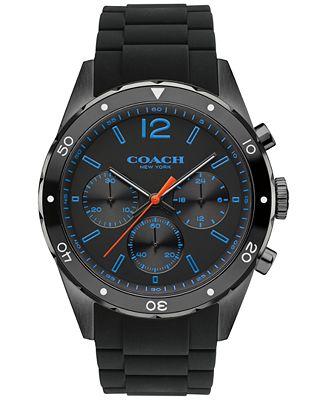 coach s chronograph sullivan sport black silicone