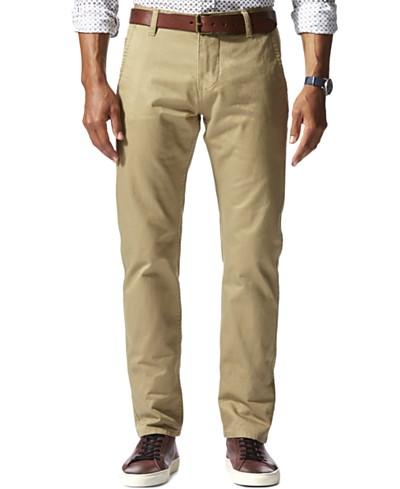 Dockers Men's Stretch Slim Tapered Fit Alpha Khaki Pants