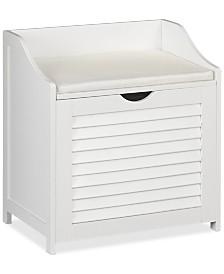 Household Essentials Single-Load Cabinet Hamper Seat