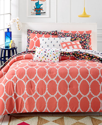 CLOSEOUT Whim By Martha Stewart Collection Coral Mirror Bedding Collection S