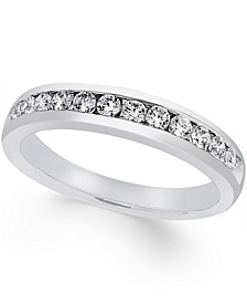 Certified Diamond Channel Set Band (1/2 ct. t.w.) in Platinum