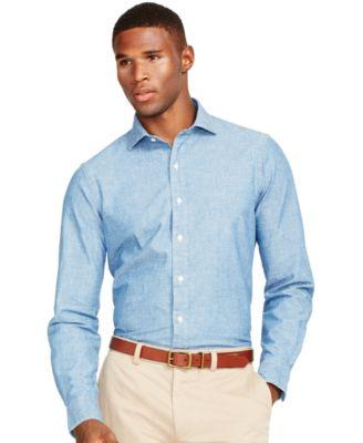 Polo Ralph Lauren Men\u0027s Chambray Estate Shirt