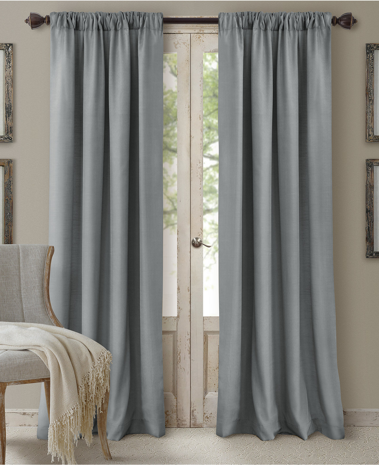 Macys Curtains For Living Room Elrene Cachet 3 In 1 Room Darkening Window Treatment Collection