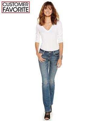 INC International Concepts Curvy-Fit Bootcut Jeans, Dashing Wash ...