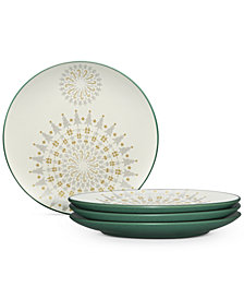 Noritake Dinnerware Set of 4 Colorwave Spruce Holiday Plates