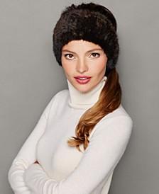 Knitted Mink Fur Headband