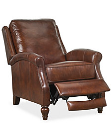 Ordinaire Leeah Leather Pushback Recliner