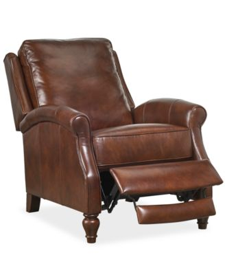Leeah Leather Pushback Recliner  sc 1 st  Macy\u0027s : leather recliner club chair - islam-shia.org