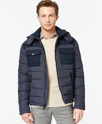 Kenneth Cole Hooded Puffer Jacket