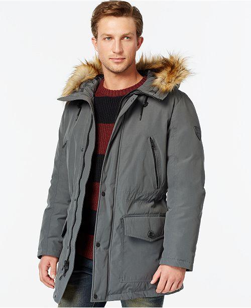 9844961135a8 GUESS Hooded Snorkel Coat   Reviews - Coats   Jackets - Men - Macy s