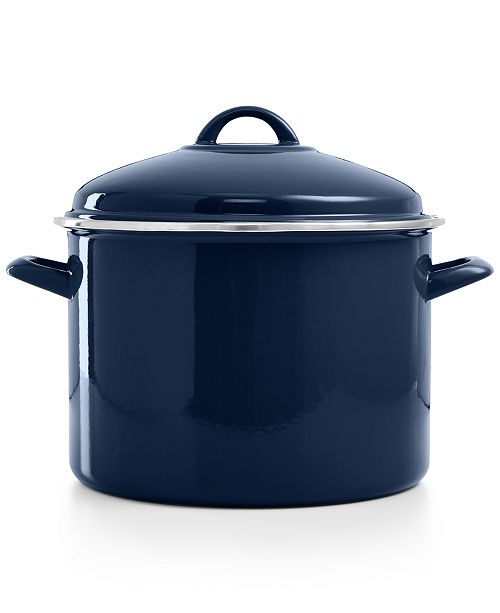 Martha Stewart Collection CLOSEOUT! 10 Qt. Enamel on Steel Stockpot, Created for Macy's
