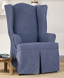 Authentic Denim Wing Chair Slipcover