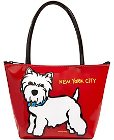 NYC Westie Mini Zip Tote
