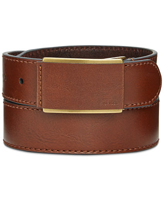 hilfiger 35mm belt with leather covered buckle