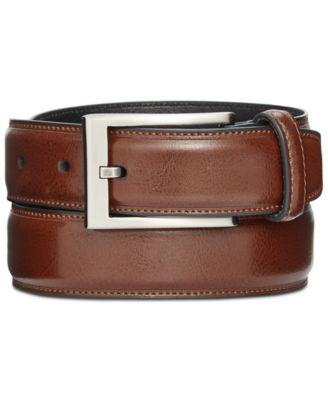 belts for men designer zbit  Alfani 32mm Feather Edge Stitch Dress Belt