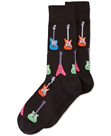 Hot Sox Men's Socks, Electric Guitar Crew