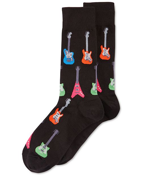 great discount sale classic highly praised Men's Socks, Electric Guitar Crew