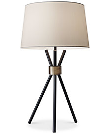 Adesso table lamp lamps light fixtures macys adesso benson tripod table lamp aloadofball Image collections
