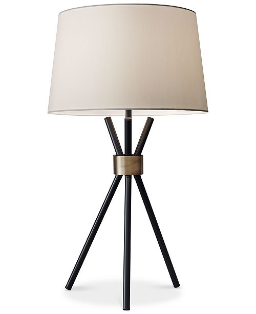 Adesso benson tripod table lamp lighting lamps home macys benson tripod table lamp 1 reviews 19900 aloadofball Image collections