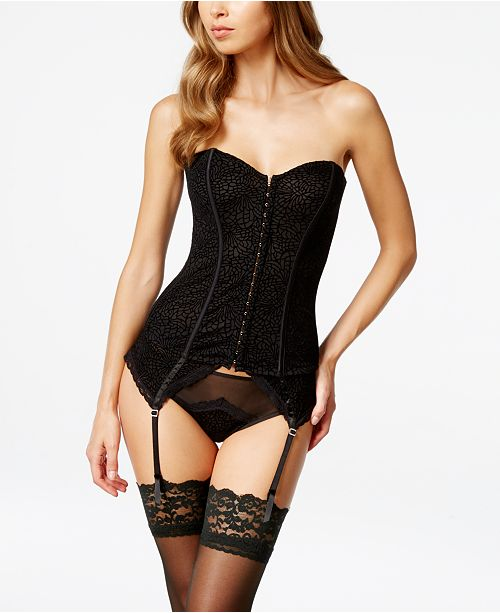 f277aba79 ... Maidenform Super Sexy Flocked Mesh Corset MFB112 - A Macy s Exclusive  ...