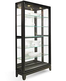Drake Dual-Slide Contemporary Curio Cabinet