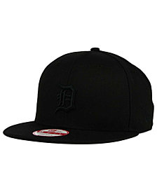 New Era Detroit Tigers Black on Black 9FIFTY Snapback Cap