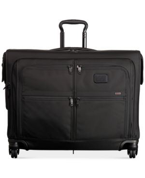 Alpha 2 Black 4-Wheeled Medium-Trip Garment Bag Luggage