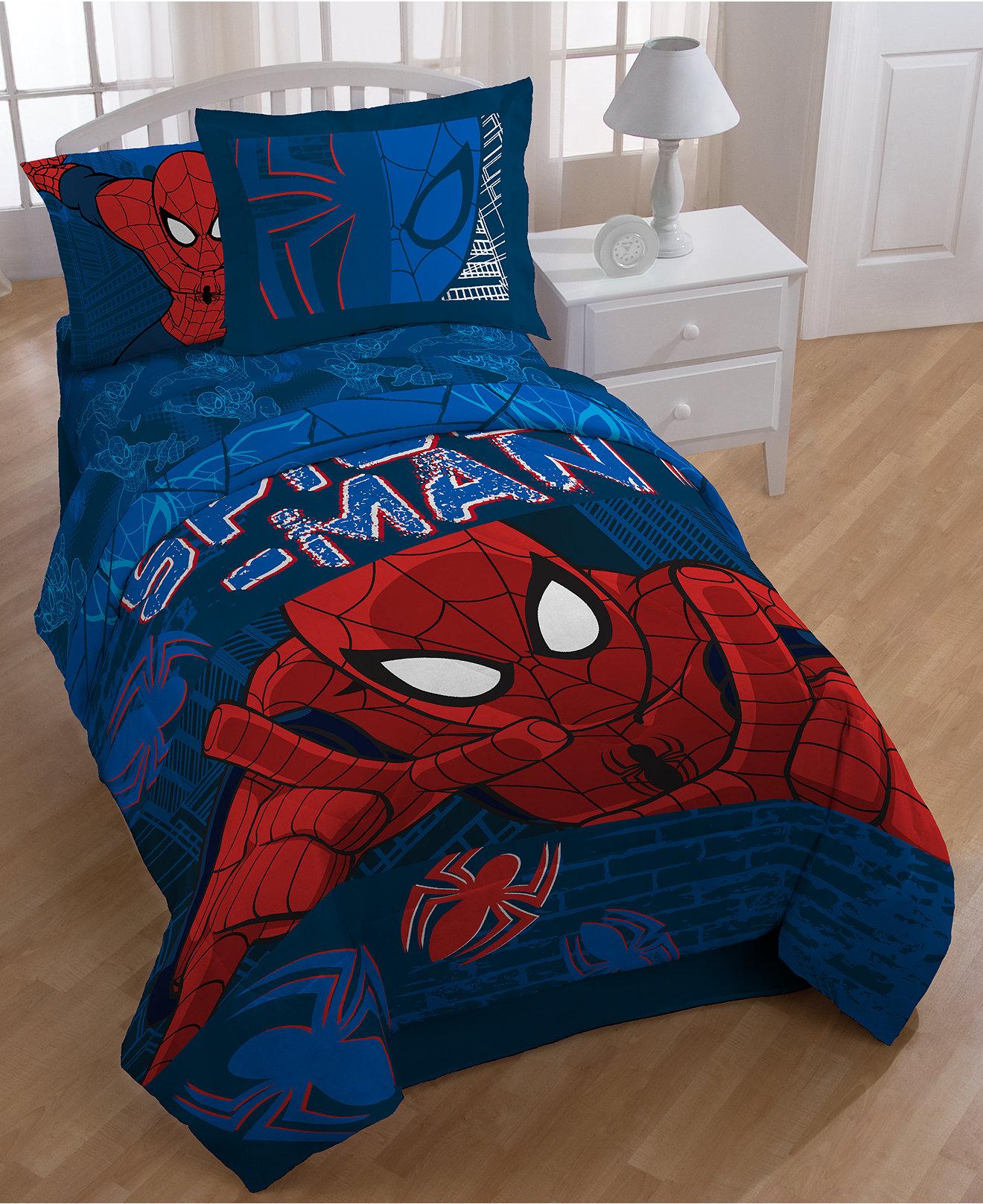 Vintage superhero bedding - Spider Man Graphic Bedding Collection