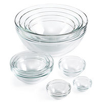 Martha Stewart Collection 10-Pc. Glass Mixing Bowl Set