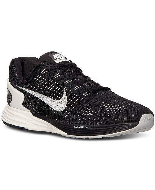 52aebb7d51bd Nike Men s LunarGlide 7 Running Sneakers from Finish Line   Reviews ...
