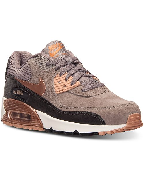 5c77e66ce122 Nike Women s Air Max 90 Leather Running Sneakers from Finish Line ...