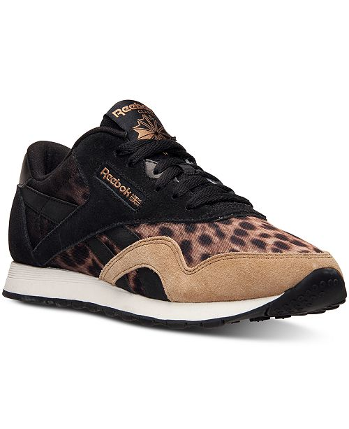 19bfb1029bd6 Reebok Women s Classic Nylon Wild Casual Sneakers from Finish Line ...