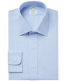 Brooks Brothers Milano Extra Slim-Fit Non-Iron Pinpoint Solid Dress Shirt