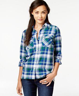 G.H. Bass & Co. Plaid Knit-Back Shirt