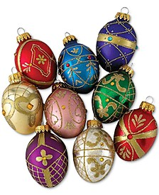 Set of 9 Decorative Egg Ornaments