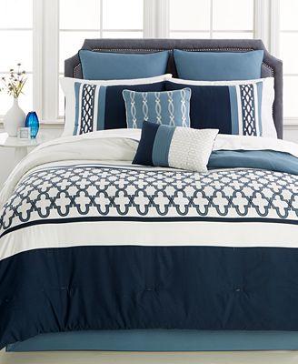 Closeout Verona Blue 8 Pc Comforter Set Created For