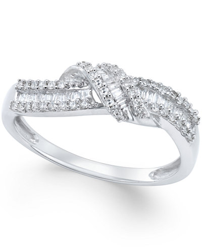 Diamond Knot Ring (1/4 ct. t.w.) in Sterling Silver