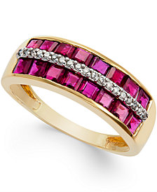 Ruby (2 ct. t.w.) and Diamond Accent Band in 14k Gold