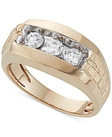 Men's Diamond Trinity Ring (1 ct. t.w.) in 10K Gold