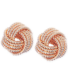 Nine West Gold-Tone Knot Stud Earrings
