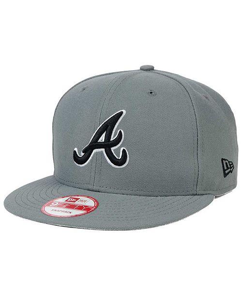 watch eca31 bf32f ... New Era Atlanta Braves Gray Black White 9FIFTY Snapback Cap ...